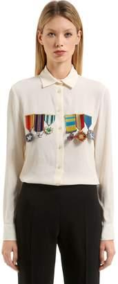 Stella Jean Embellished Silk Blend Shirt