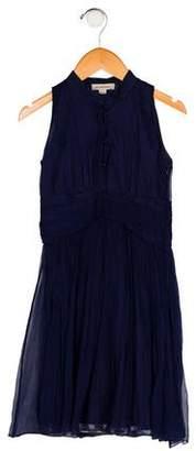 Burberry Girls' Sleeveless Silk Dress
