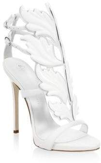 Giuseppe Zanotti Women's Double-Strap Leather Sandals - Bianco - Size 6.5