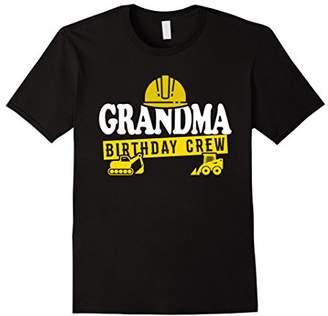Grandma Birthday Crew T-Shirt Construction Theme Bday