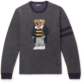 Polo Ralph Lauren Bear-Embroidered Wool Sweater