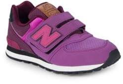 New Balance Girl's Logo Suede Sneakers