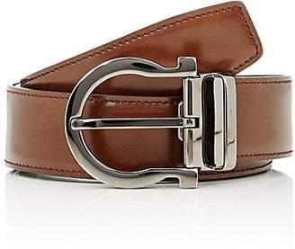 Salvatore Ferragamo Men's Gancio-Buckle Reversible Leather Belt - Black