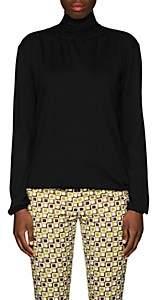 Prada Women's Virgin Wool Tieneck Blouse-Black