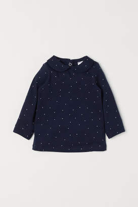 H&M Top with Collar - Blue