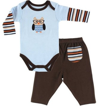 Hudson Baby Boy Long Sleeve Bodysuit and Pant