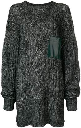 MM6 MAISON MARGIELA chunky knit oversized sweater with pocket detail