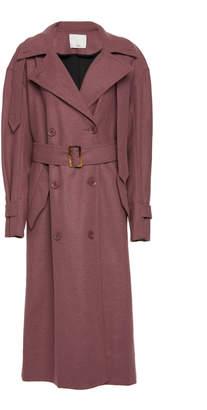 Tibi Light Weight Felted Wool Windcoat