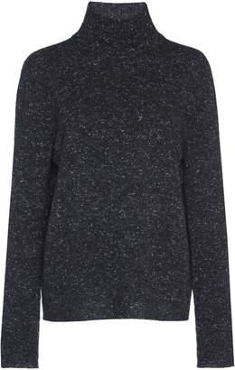 Agnona Cashmere Tweed Turtleneck Sweater
