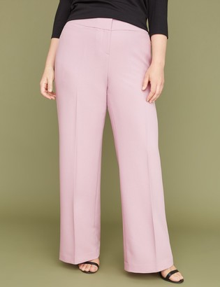 Lane Bryant Allie Tailored Stretch Wide Leg Pant - Textured