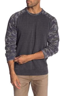 Lucky Brand Camo Colorblock Raglan Sweatshirt