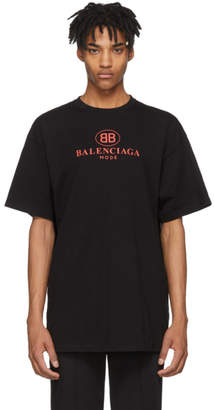 Balenciaga Black Mode Logo T-Shirt