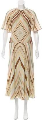Valentino Silk Printed Maxi dress w/ Tags