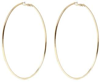 Kenneth Jay Lane Gold plated large hoop earrings