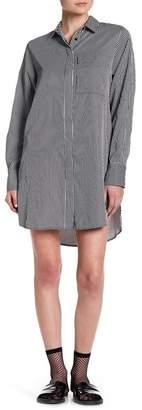 KENDALL + KYLIE Kendall & Kylie Lace Back Stripe Shirt Dress