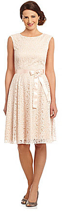 Tahari by Arthur S. Levine Tahari by ASL Flocked Lace Dress