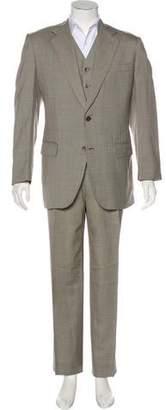 Bijan Wool Houndstooth Suit