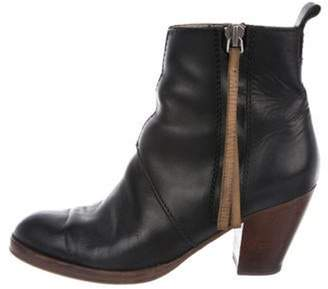 Acne Studios Leather Ankle Boots Black Leather Ankle Boots