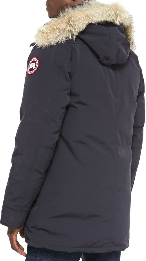 Canada Goose Chateau Parka w/Fur Trimmed Hood, Navy 3