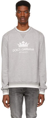 Dolce & Gabbana Grey Crown Logo Sweatshirt