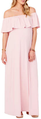 Ingrid & Isabel Solid Off-The-Shoulder Maxi Dress
