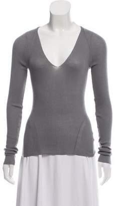 Gucci Cashmere Rib Knit Sweater