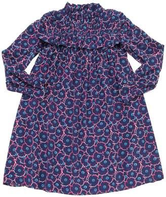 Marni Junior FLOWER PRINT SILK & VISCOSE DRESS