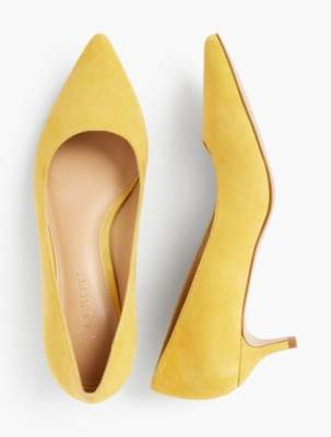 679c671d71b1 at Talbots · Talbots Sylvie Kitten-Heel Pumps - Kid Suede