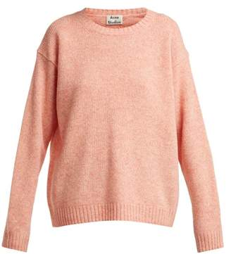 Acne Studios Samara Wool Sweater - Womens - Light Orange
