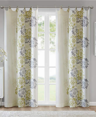 "Madison Park Anaya Cotton Floral 50"" x 63"" Grommet Window Panel"