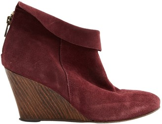 BA&SH Bash Burgundy Suede Ankle boots