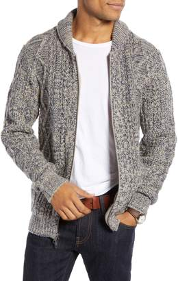 1901 Shawl Collar Full Zip Cardigan