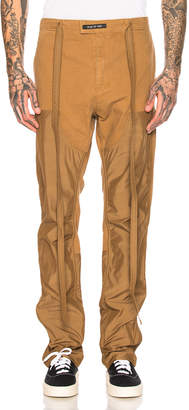 Fear Of God Nylon Double Front Work Pant in Rust   FWRD