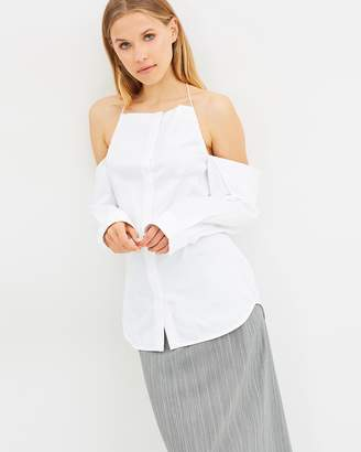 CHRISTOPHER ESBER Jojo Drop Shoulder Halter Shirt