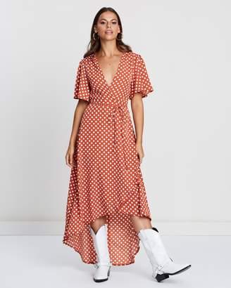 Missguided Polka Dot Wrap Dress