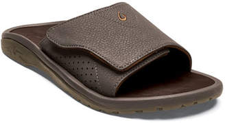 OluKai Men's Nalu Grip-Strap Slide Sandals