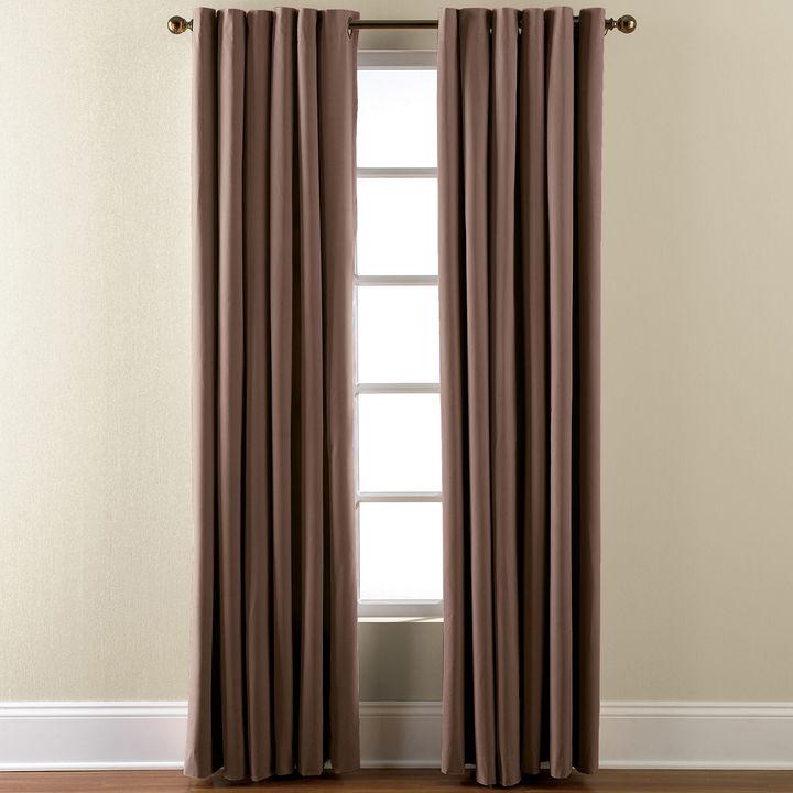 Eclipse Microfiber Grommet-Top Blackout Curtain Panel
