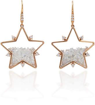 Moritz Glik 18K Rose Gold Diamond Earrings