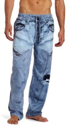 Paul Frank MJC International Men's Generic Faux Denim Pajama Pant