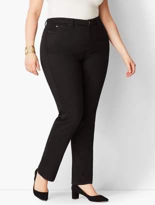Talbots Plus Size Exclusive High-Rise Straight-Leg Jeans - Curvy Fit/Black