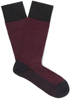 HUGO BOSS Polka-Dot Mercerised Stretch-Cotton Socks - Men - Red