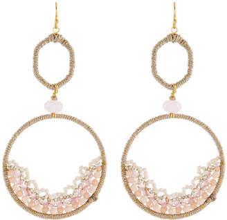 Nakamol Open Bead Frame Drop Earrings