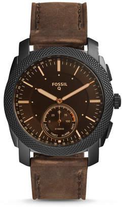 Fossil Hybrid Smartwatch - Q Machine Dark Brown Leather