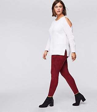 LOFT Plus Leggings in Faux Suede