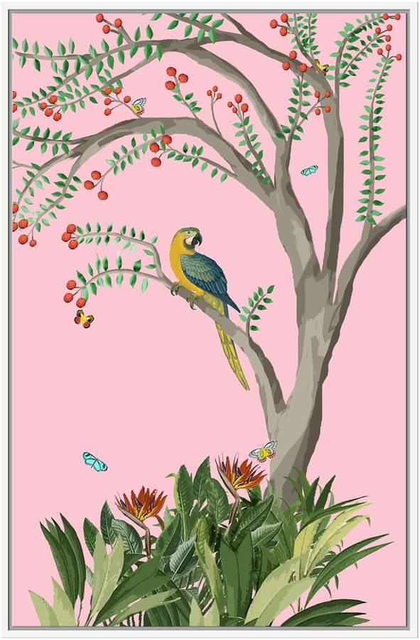 Parrot in Tree (Framed Giclee)