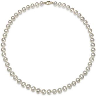FINE JEWELRY Genuine Akoya Pearl 14K Yellow Gold 18 Necklace