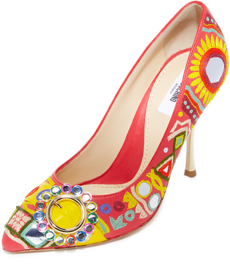 Moschino Point Toe Pumps $1,095 thestylecure.com