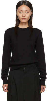 Maison Margiela Black Updated Elbow Patch Sweater