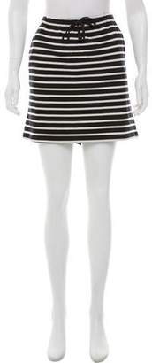 Ganni Striped Mini Skirt