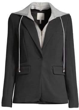 Joie Kanner Two-Piece Hoodie& Blazer Set
